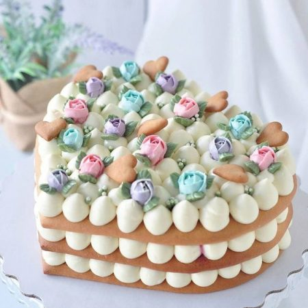 Торт в виде сердца в домашних условиях