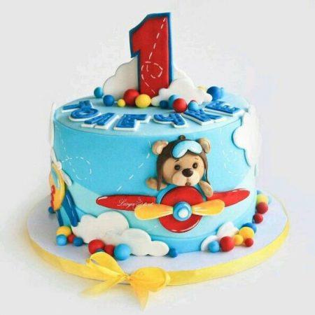 Торт с самолетиком на 1 на год