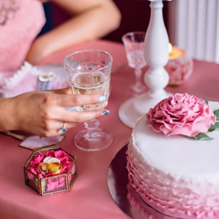 Торт с розочкой