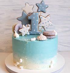 Торт с топперами на годик