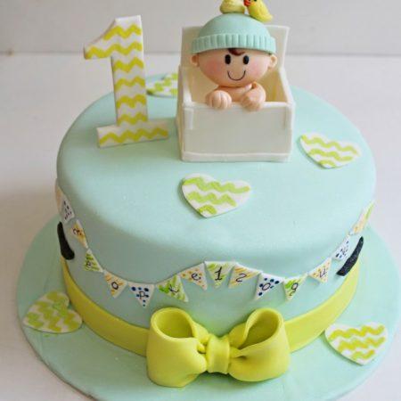 Торт на годик с датой рождения