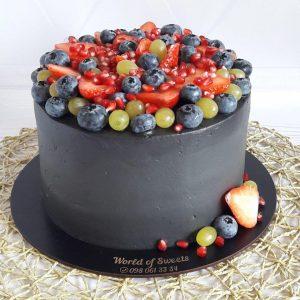Черный торт для мужчины
