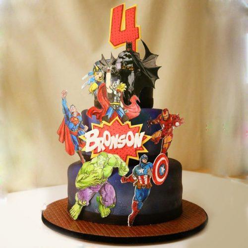Торт марвел с фото супер героями