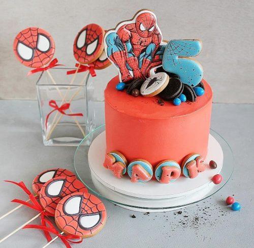 Торт с человеком пауком на 5 лет