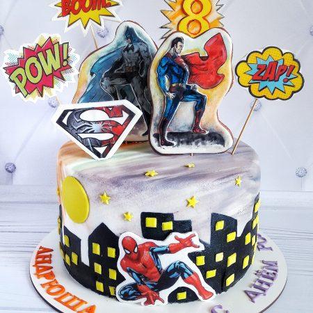 Торт марвел супер герои