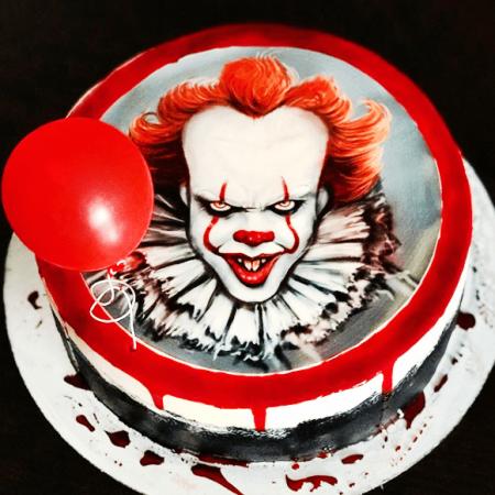 Торт с клоуном из оно