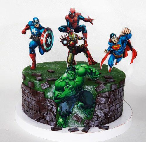 Марвел торт