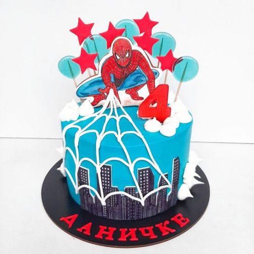 Торт с человеком пауком кремовый