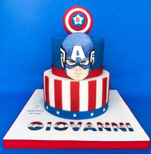 Торт с капитан Америка