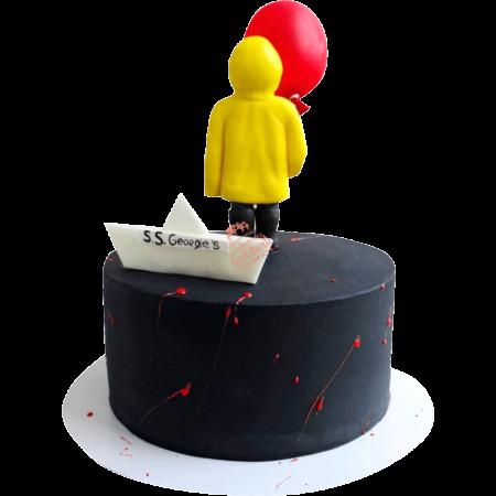 Торт мальчик в желтом дождевике оно