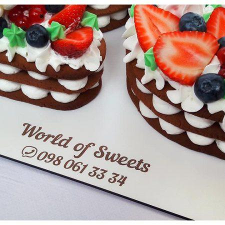 Торт цифра 20