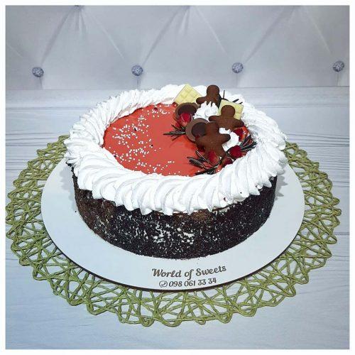 Торт на день рождения кремовый