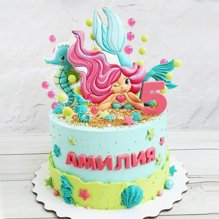 Торт с русалочкой