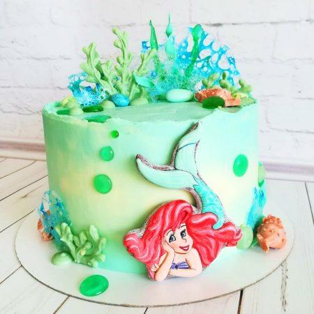 Торт для девочки русалочка