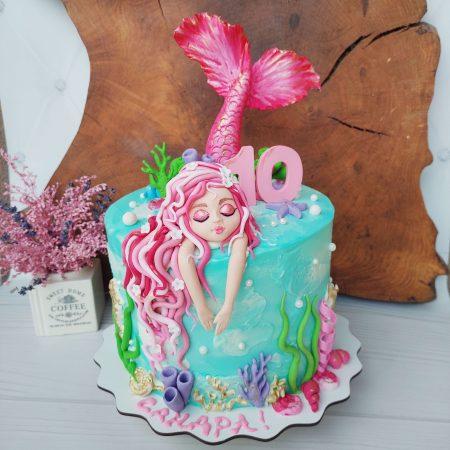 Торт с русалочкой Ариэль