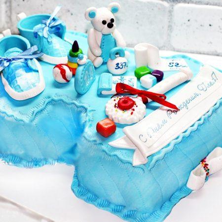Торт с пинетками для мальчика