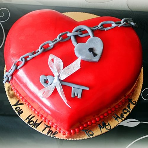 Торты в форме сердец