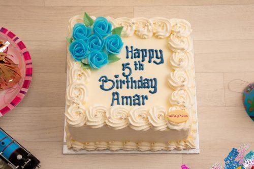 Белый торт на день рождения на 5 лет