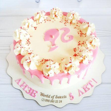 Торт с рисунком Барби