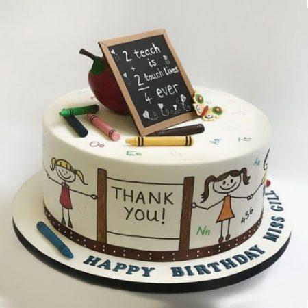 Красивый торт на день учителя