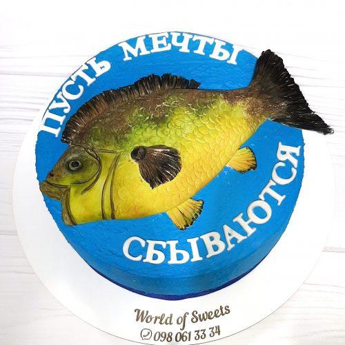 Торт рыбаку с рыбой
