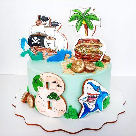 Пиратский торт с пряником