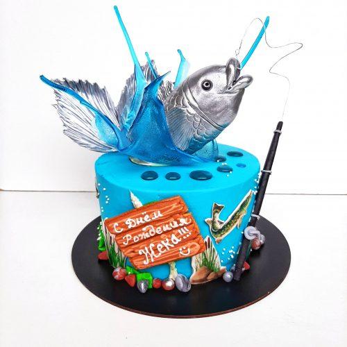 Торт на заказ для рыбака