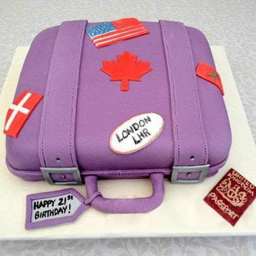 Торт саквояж с паспортом