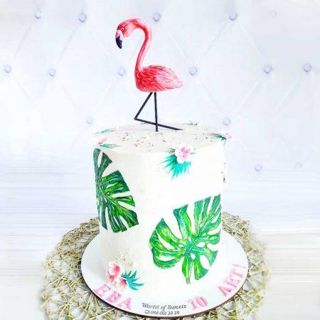 Детский торт с фламинго