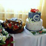Свадебный торт и каравай