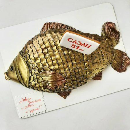Торт рыба