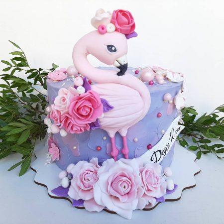 Торт с фламинго фото