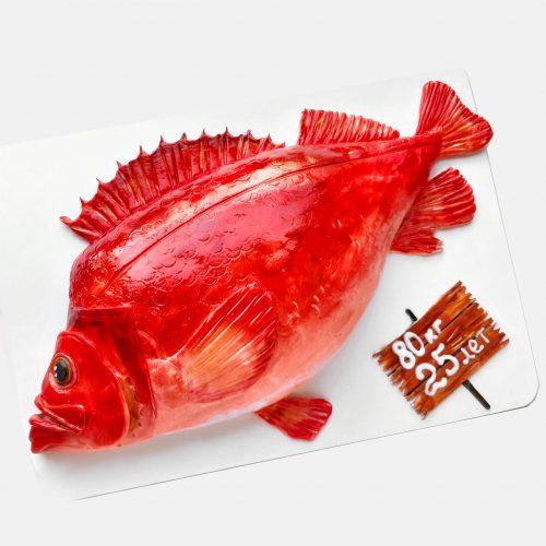 Торт в форме рыбы