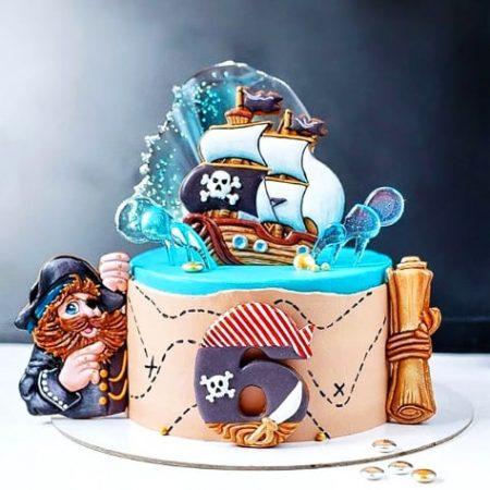 Торт в стиле пиратов