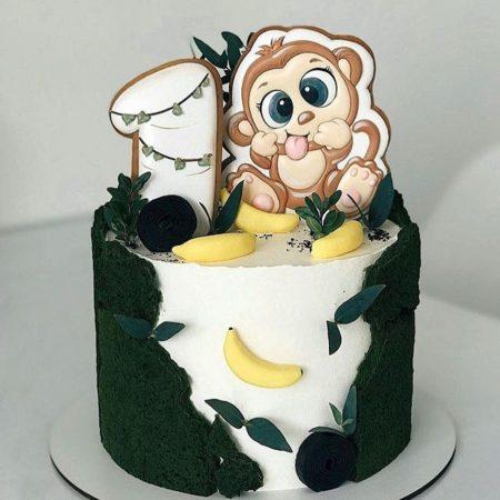 Торт обезьянка с бананами