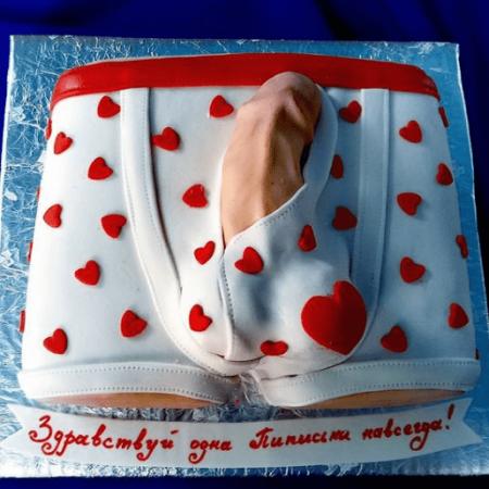 Торт член в трусах