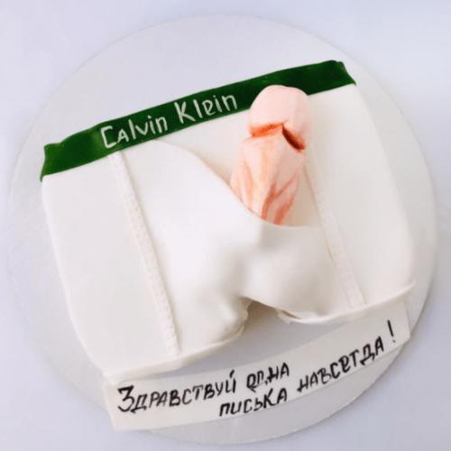 Торт с членом из крема