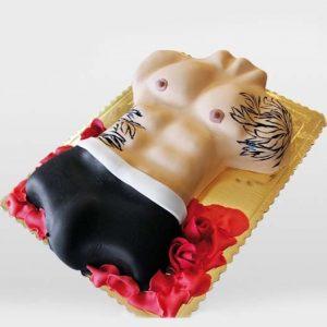 Торт с мужским торсом