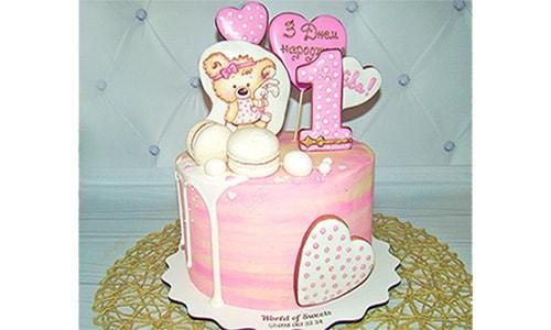 Фото-рецепт, торт молочная девочка с клубничной начинкой