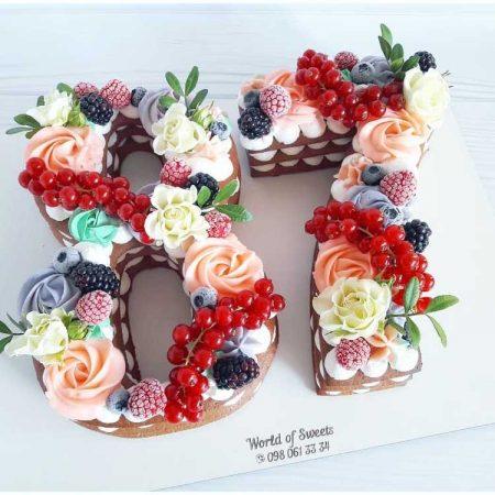 Торт цифра 87