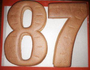 Коржи на торт цифра