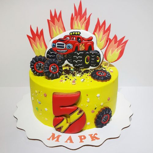 Торт Вспыш из крема