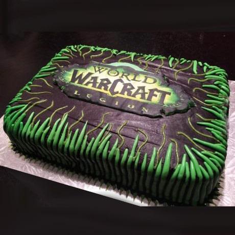 Торт в стиле варкрафт