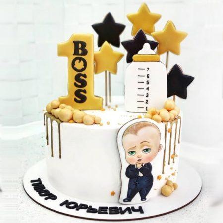 Торт на годик босс молокосос