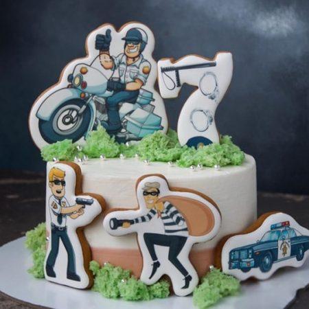 Торт полицейский для мальчика