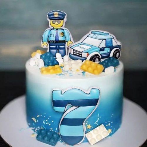 Торт полицейский детский
