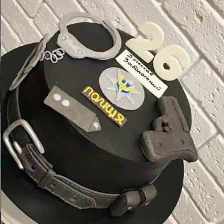Торт для полицейского на день рождения