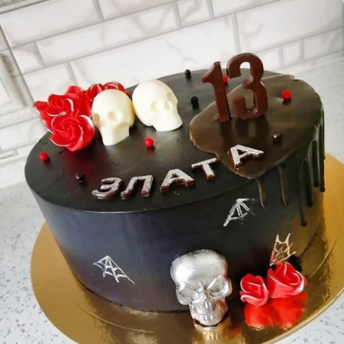 Торт с черепом