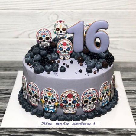 Торт з черепом