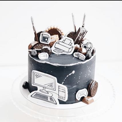 Торт с компьютером мальчику